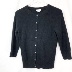 Investments Black Cashmere 8 button Cardigan